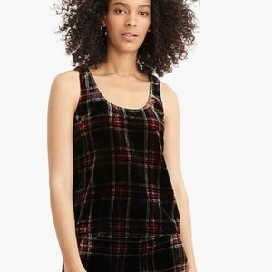 J.Crew velvet cami top size 6 NEW WITH TAG